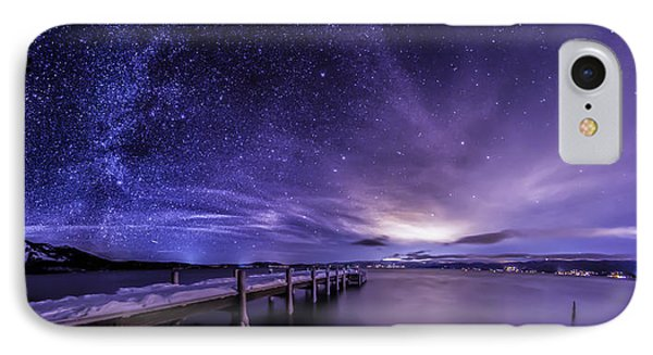 Milky Way Mountains IPhone Case by Brad Scott
