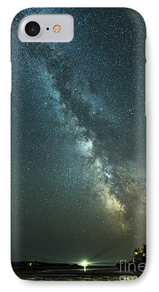 Milky Way Over Clams Flats IPhone Case by Patrick Fennell