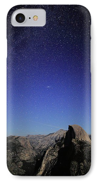 Milky Way Over Half Dome IPhone Case by Rick Berk