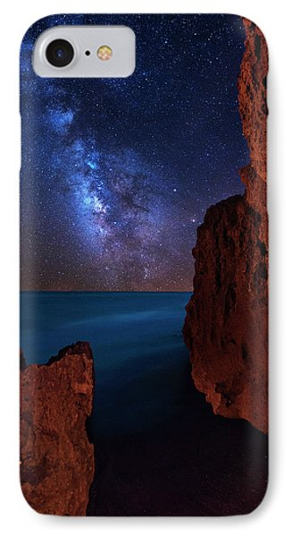 Milky Way Over Huchinson Island Beach Florida IPhone Case by Justin Kelefas