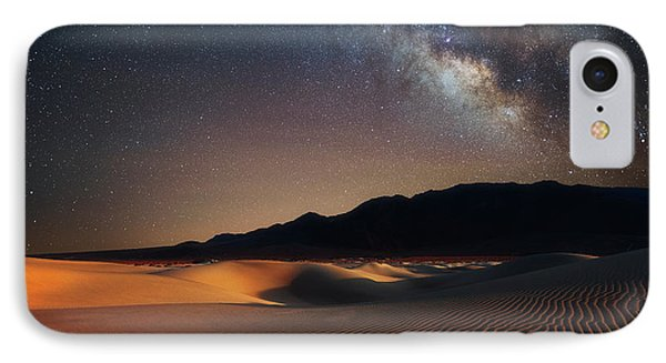 IPhone Case featuring the photograph Milky Way Over Mesquite Dunes by Darren White