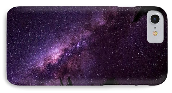 Milky Way Over Mission Beach Narrow IPhone Case by Avian Resources