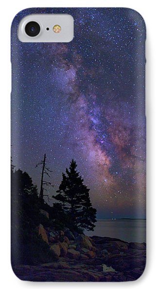 Milky Way Over Otter Point IPhone Case by Rick Berk