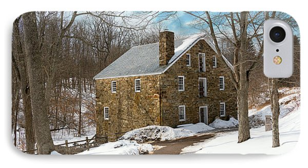 Mill - Cooper Grist Mill IPhone Case by Mike Savad