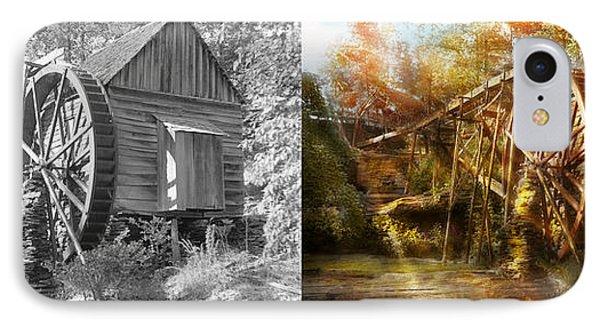 Mill - Cornelia, Ga - Grandpa's Grist Mill 1936 - Side By Side IPhone Case