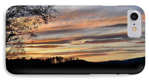 Mill Creek Lake Sun Set Phone Case by Todd Hostetter