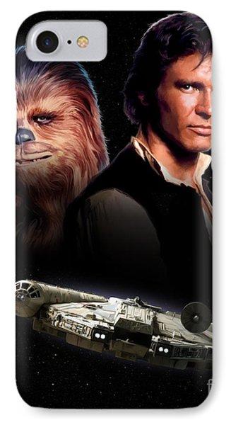 Han Solo - Millenium Falcon IPhone Case by Paul Tagliamonte