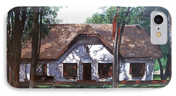 IPhone Case featuring the painting Miller Homestead by Tom Roderick