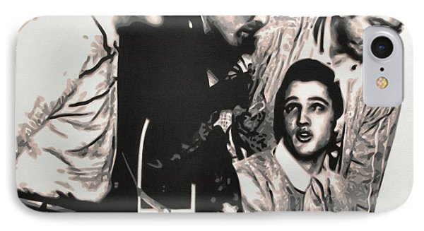 Million Dollar Quartet IPhone Case by Luis Ludzska