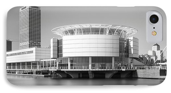 Milwaukee Discovery World Picture In Black And White IPhone Case by Paul Velgos
