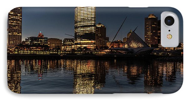 IPhone 7 Case featuring the photograph Milwaukee Reflections by Randy Scherkenbach
