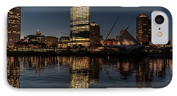 IPhone Case featuring the photograph Milwaukee Reflections by Randy Scherkenbach