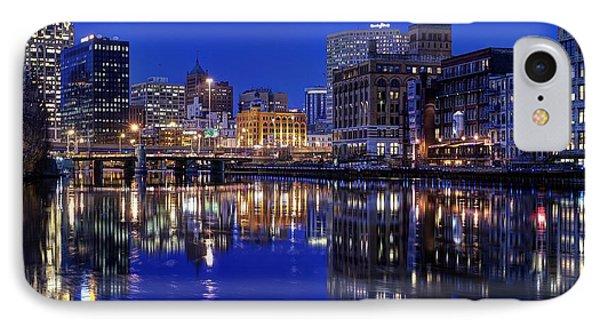 Milwaukee River Twilight Winter Phone Case by John December