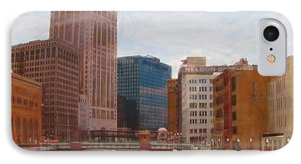 Milwaukee River View Phone Case by Anita Burgermeister