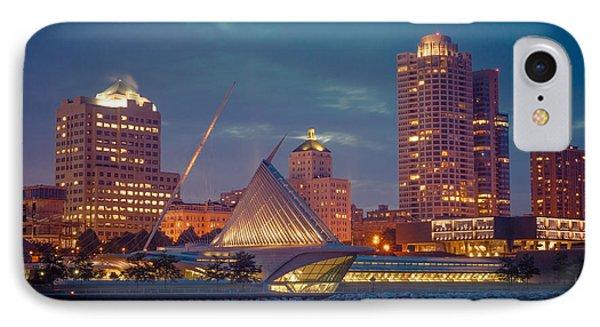 Milwaukee Skyline At Dark IPhone Case by James  Meyer
