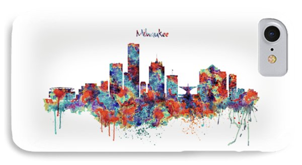 Milwaukee Watercolor Skyline IPhone Case