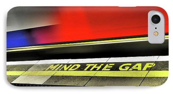 Mind The Gap IPhone Case by Rona Black