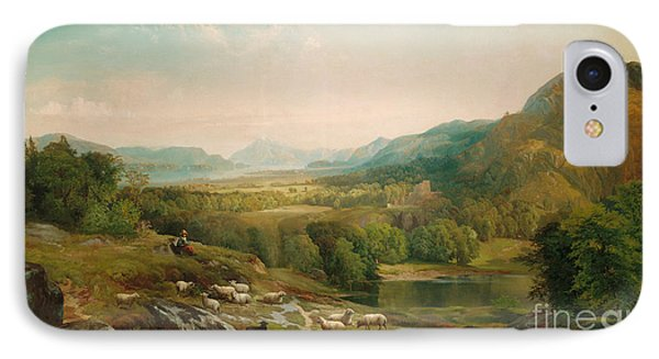 Minding The Flock Phone Case by Thomas Moran