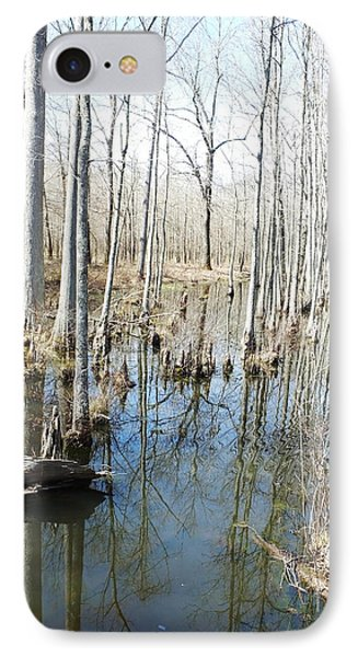 Mineral Slough Ghost River Conservation Area Lagrange Tn IPhone Case by Lizi Beard-Ward