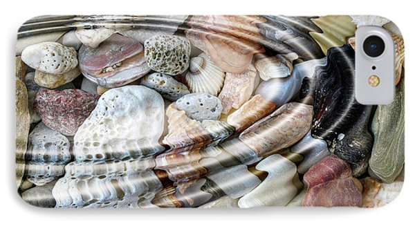 IPhone Case featuring the digital art Minerals And Shells by Michal Boubin