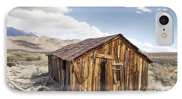Miner's Shack In Benton Hot Springs IPhone Case