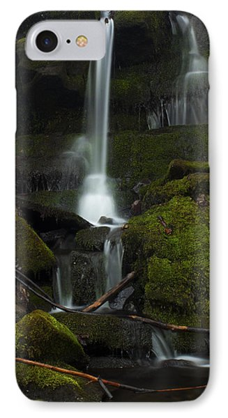 IPhone Case featuring the photograph Mini Waterfall In The Forest by Jeff Severson