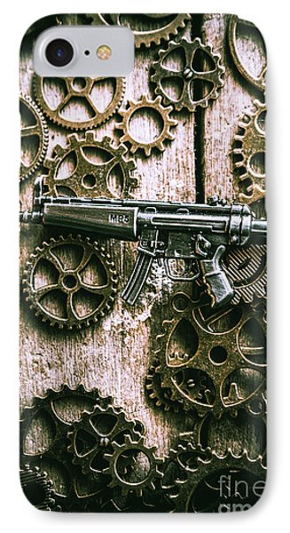 Miniature Mp5 Submachine Gun IPhone Case by Jorgo Photography - Wall Art Gallery