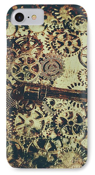 Miniature Old Western Pistol IPhone Case by Jorgo Photography - Wall Art Gallery