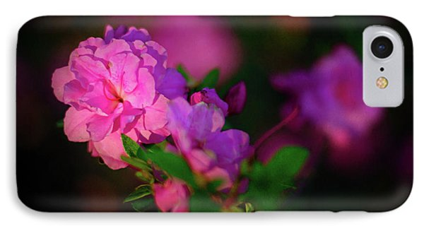 Miniature Pink Azaleas IPhone Case by Tamyra Ayles