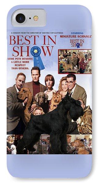 Miniature Schnauzer Art Canvas Print - Best In Show Movie Poster IPhone Case
