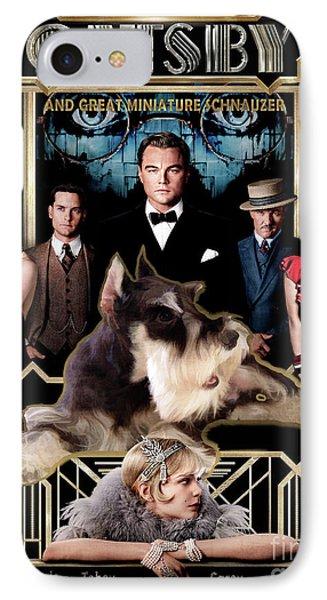 Miniature Schnauzer Art Canvas Print - The Great Gatsby  Movie Poster IPhone Case