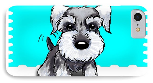 Miniature Schnauzer IPhone Case by Catia Cho