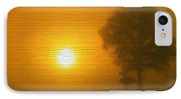 Minimalism Sunset On Wood IPhone Case