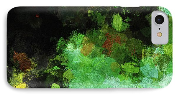 Minimalist And Abstract Painting In Green Tones IPhone Case by Ayse Deniz