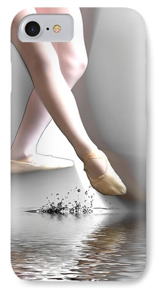 Minimalist Ballet IPhone Case by Angel Jesus De la Fuente