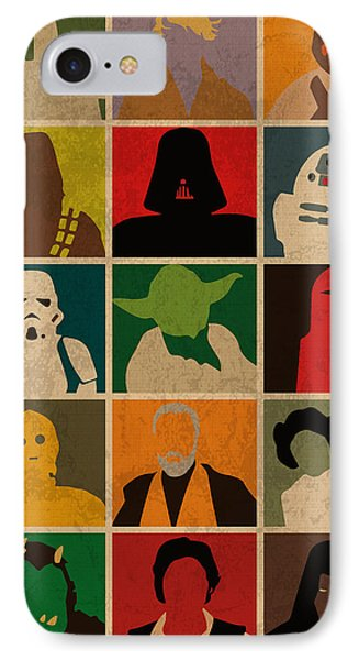 Minimalist Star Wars Character Colorful Pop Art Silhouettes IPhone Case by Design Turnpike