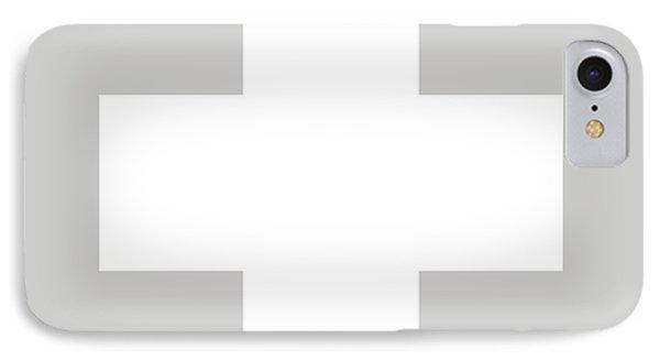 Minimalist Swiss Cross Pattern - White On Gray IPhone Case