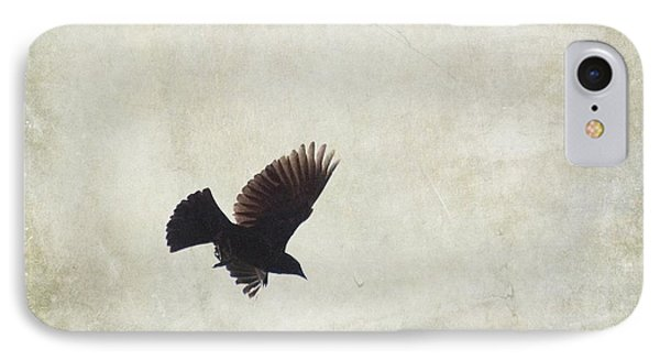 IPhone Case featuring the photograph Minimalistic Bird In Flight  by Aimelle