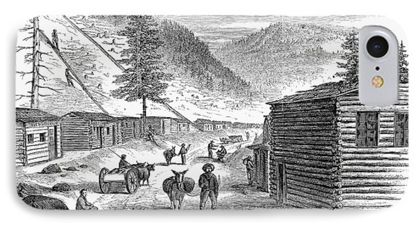 Mining Camp, 1860 Phone Case by Granger