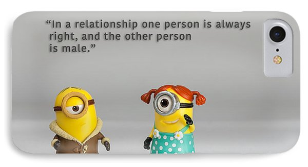 Minion Quote 17 IPhone Case by Tim Nichols