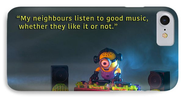 Minion Quote 18 IPhone Case by Tim Nichols
