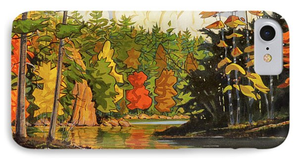 Mink Lake Narrows IPhone Case by David Gilmore