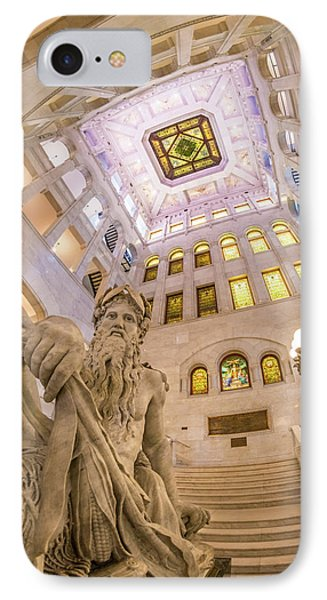 Minneapolis City Hall Rotunda, Father Of Waters IPhone Case by Jim Hughes
