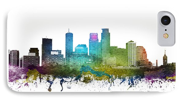 Minneapolis Cityscape 01 IPhone Case by Aged Pixel