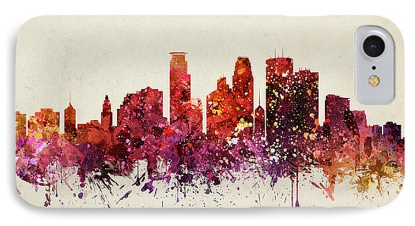 Minneapolis Cityscape 09 IPhone Case by Aged Pixel