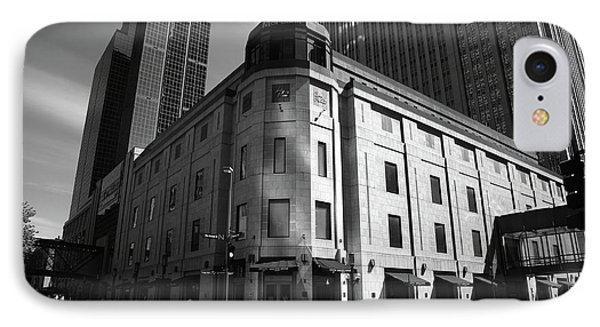 IPhone Case featuring the photograph Minneapolis Downtown Bw by Frank Romeo