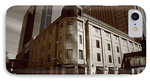 IPhone Case featuring the photograph Minneapolis Downtown Sepia by Frank Romeo