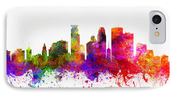 Minneapolis Minnesota Skyline Color02 IPhone Case by Aged Pixel