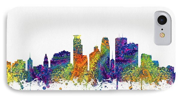 Minneapolis Minnesota Skyline Color03 IPhone Case by Aged Pixel
