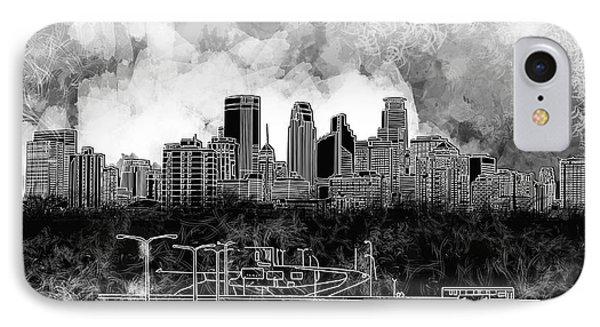 Minneapolis Skyline Abstract 2 IPhone Case
